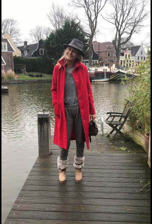 Get it - geruite wollen jas