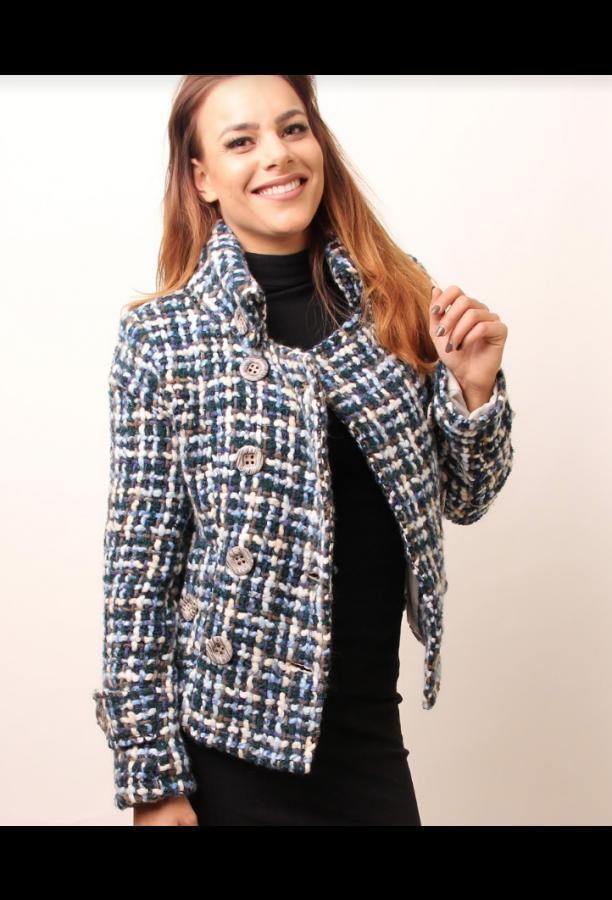 Carlala Jacket Blu - Short
