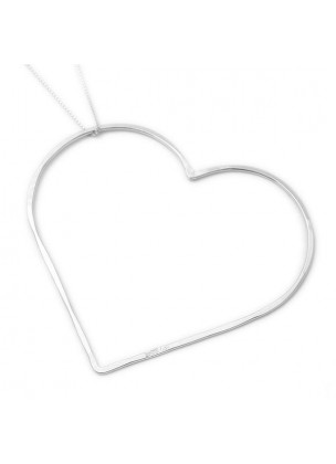 LARGE HEART - Silver