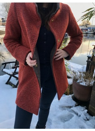 Winter Coat Red/Orange