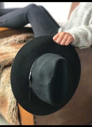 Classy black hat