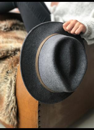 Classic dark grey hat