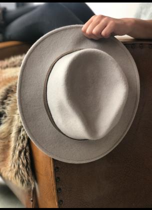 Classic light grey hat