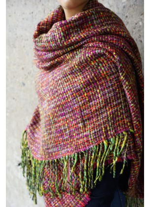 Multi color shawl (knitted)