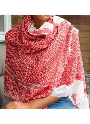 Silk/pashmina pattern scarf