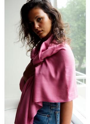 Silk/pashmina pink