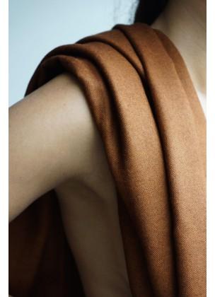 Silk/pashmina brown