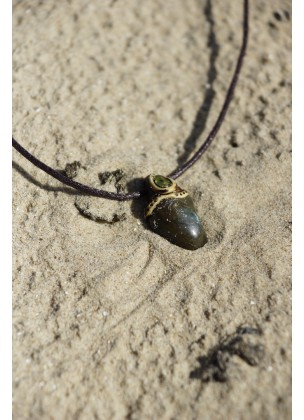 Green labradorite necklace