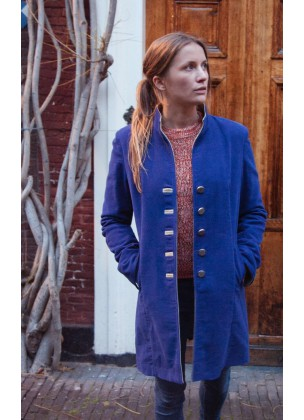 Jockey coat blue purple