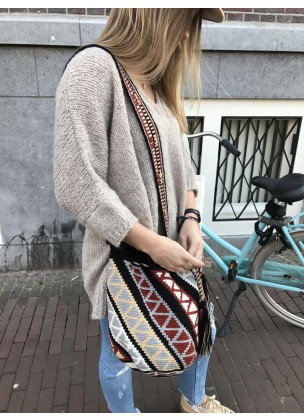 Knitting sweater beige