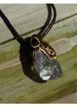 Light celestite necklace