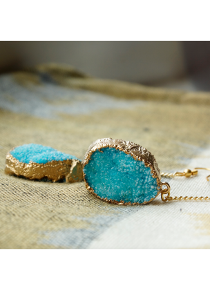 Turquoise christal earrings