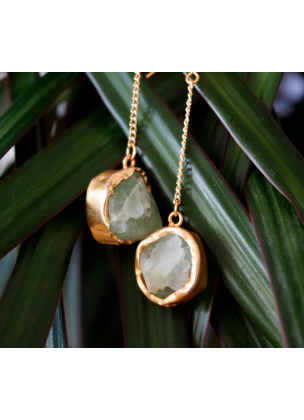 Green fluorite earrings