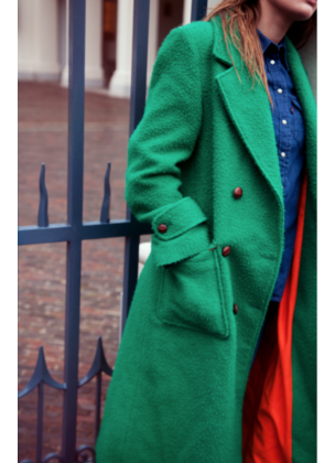 Trench coat groen