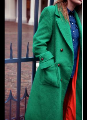 Trench coat groen