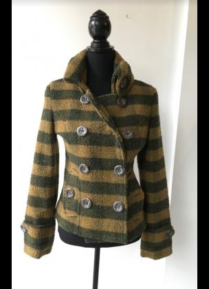 Wool Jacket Short - Green & Yellow
