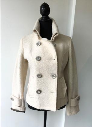Wool Jacket Short - White