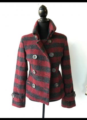 Wool Jacket Short - Reb & Black