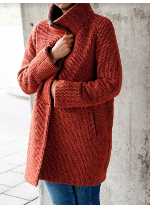 Winter Coat - Red Orange