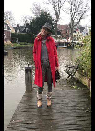 Matrix Coat Long - Red