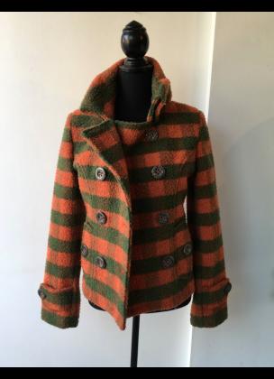Get it - checkered wool coat short